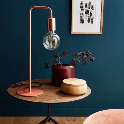 Lampada Da Tavolo Design Lana Rame In Metallo Inspire Prezzo Online Leroy Merlin