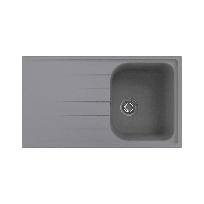 Lavello da incasso Elba 86 x 50 cm 1 vasca con gocciolatoio