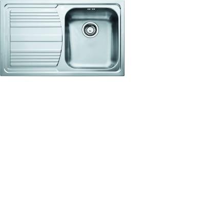 Lavello da incasso Logica Line 79 x 50 cm 1 vasca con gocciolatoio
