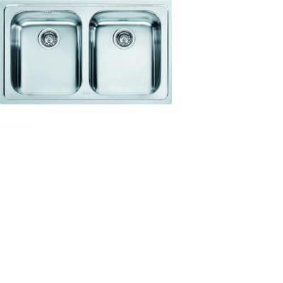 Lavello da incasso Logica Line 79 x 50 cm 2 vasche