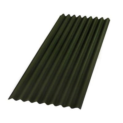 Lastra ondulata ONDULINE Base in bitume 85 x 200 cm, Sp 2.6 mm verde