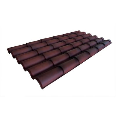 Lastre finto coppo/tegola in polimglass® 99 x 209 cm, Sp 2 mm terracotta