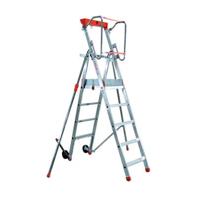 Scala doppia FACAL Platea in alluminio 4 gradini per lavori fino a 3.1 m