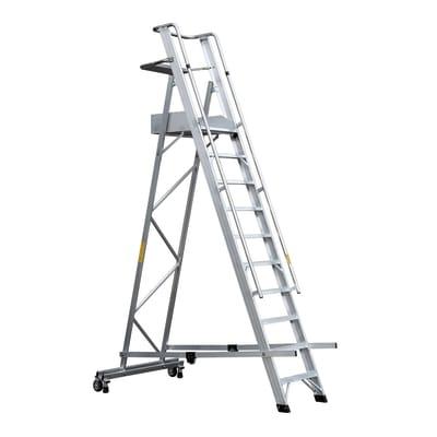 Scala a castello GIERRE Serie 7 Professional in alluminio 10 gradini per lavori fino a 4.6 m