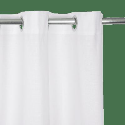 Tenda INSPIRE Leya bianco occhielli 140 x 280 cm