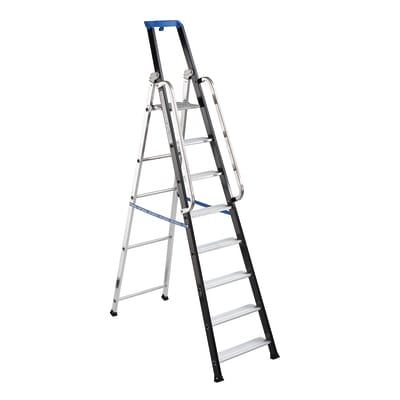 Scala doppia GIERRE Serie 7 in alluminio 8 gradini per lavori fino a 3.84 m