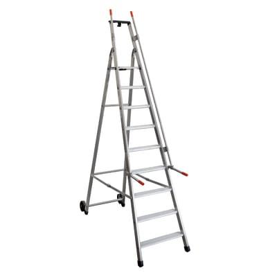 Scala doppia FACAL Mayorà in alluminio 9 gradini per lavori fino a 3.85 m
