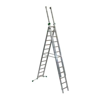 Scala a sfilo FACAL Super Prima 3 rampe in alluminio 3x13 gradini per lavori fino a 10.8 m