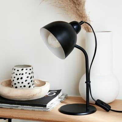 Lampada da scrivania Moderno Leo nero , in metallo, INSPIRE