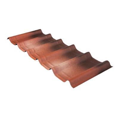 Tegola bituminosa ONDULINE Onduvilla in bitume 107 x 40 cm, Sp 3 mm terracotta anticato