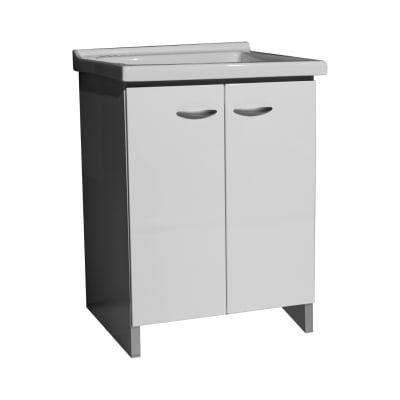 Mobile lavanderia Premium grigio L 63 x P 50 x H 87 cm