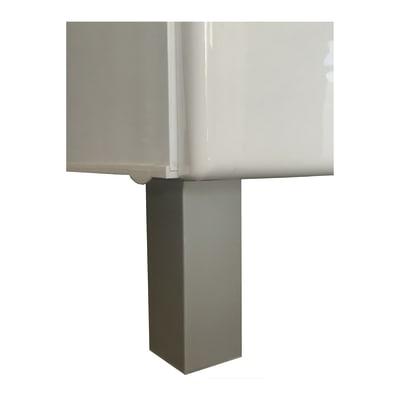 Piedino mobili da bagno (componibile) Anodized in plastica H 10 cm 4 pezzi