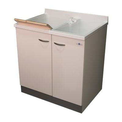 Mobile lavanderia Plus bianco L 80 x P 60 x H 85 cm