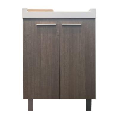 Mobile lavanderia Mavi essenza rovere sbiancato L 59.2 x P 52.5 x H 84 cm
