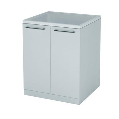 Mobile lavanderia Remix bianco rivestito L 57 x P 50 x H 93 cm
