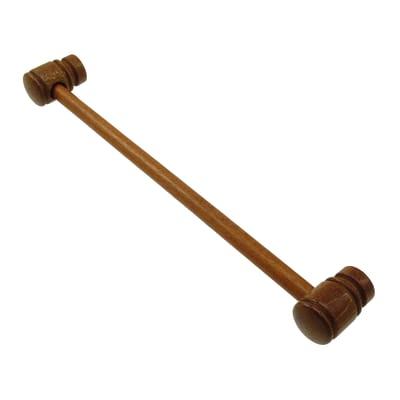 Kit bastone per tenda Zip in legno Ø 11 mm ciliegio selvatico verniciato 80 cm