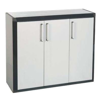 Armadietto basso Thetris Eco L 102 x P 40 x H 84.5 cm grigio chiaro e grigio antracite