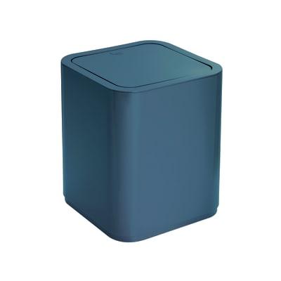 Pattumiera da bagno push gettacarta GEDY BLU PETROLIO 8 Lin plastica
