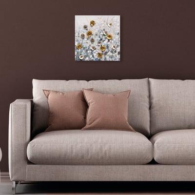 Quadro dipinto a mano Fiori 30x30 cm