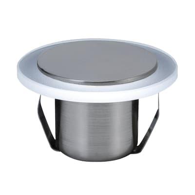 Faretto fisso da incasso tondo Saturn in plastica, cromo, diam. 2.5 cm LED integrato 0,6W 1LM IP20