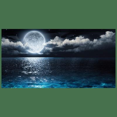 Quadro su tela Luna riflessa nel mare 145x75 cm