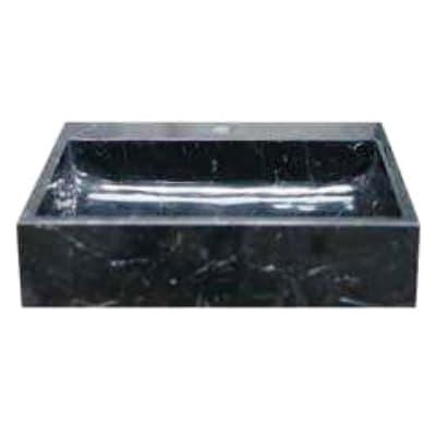Lavabo da appoggio Rettangolare Pietranera in pietra L 50 x P 45 x H 12 cm nero