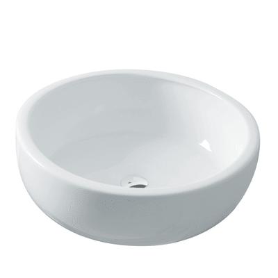 Lavabo Rotondo Texture in ceramica Ø 41 x H 13 cm bianco