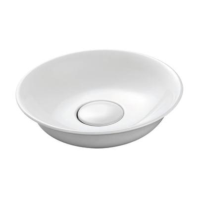 Lavabo da appoggio Rotondo Cuenca in ceramica Ø 45 x H 12 cm bianco