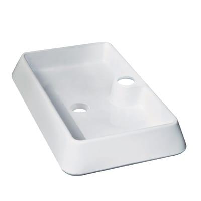 Lavabo da appoggio rettangolare Galicia in ceramica L 60 x P 40 x H 10 cm bianco