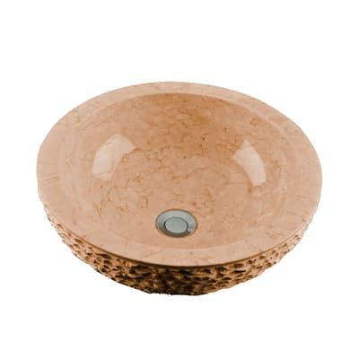 Lavabo da appoggio Rotondo Merapi in pietra Ø 40 x H 15 cm marrone