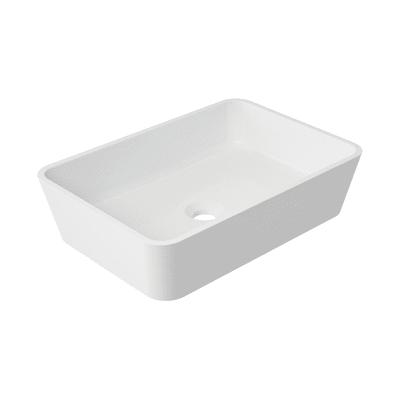 Lavabo da appoggio Rettangolare Parma in resina L 50 x P 35 x H 35 cm bianco
