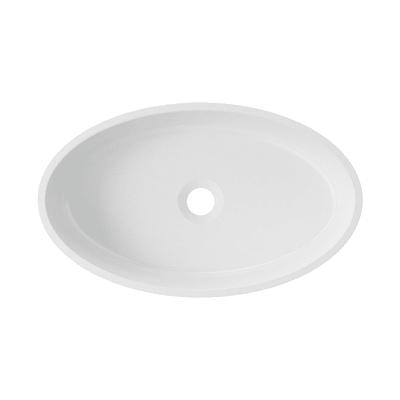 Lavabo da appoggio Ovale Siena in resina L 50 x P 30 x H 30 cm bianco