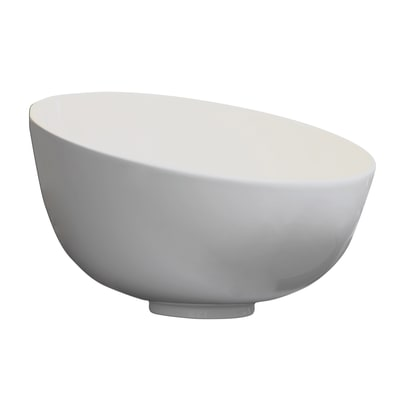 Lavabo da appoggio Rotondo C4 in ceramica Ø 46 x H 29 cm bianco