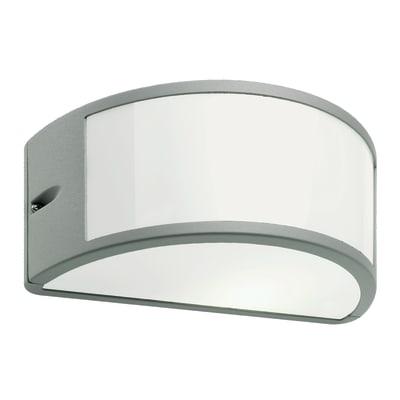 Applique Umbe in alluminio, grigio e bianco, E27 MAX60W IP54