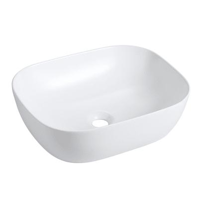 Lavabo free-standing da appoggio rettangolare in porcellana L 49 x P 40 x H 16 cm bianco