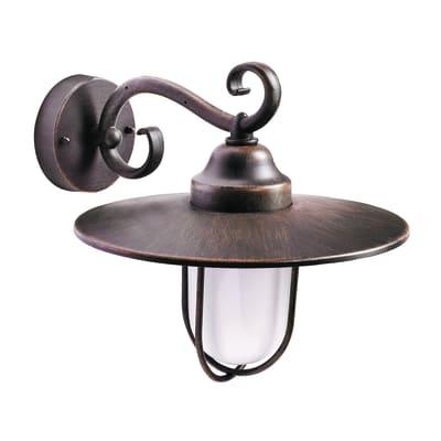 Applique Pasture in alluminio, bronze, E27 MAXDipende dalla lampadina che si decide di utilizzareW IP44 PHILIPS