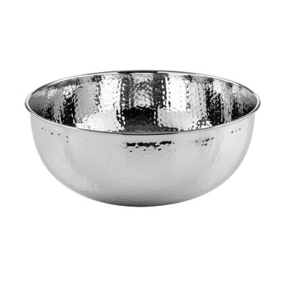 Lavabo free-standing da appoggio Rotondo New Shine in metallo cromato Ø 39 x H 17 cm argento