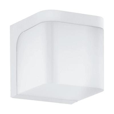 Applique Jorba LED integrato in alluminio, bianco, 6W 500LM IP44