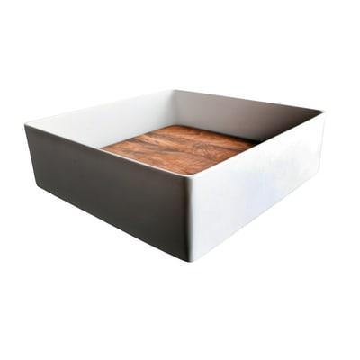 Lavabo da appoggio quadrato Trabocchetto in resina L 40 x P 40 x H 13 cm multicolore