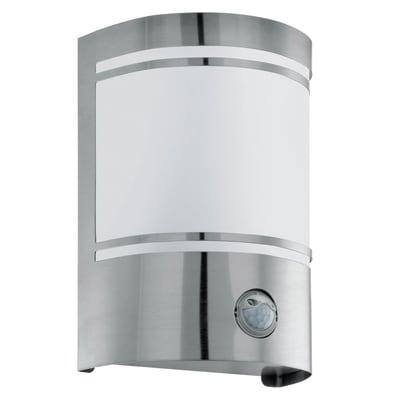 Applique CERNO in acciaio inossidabile, bianco/grigio, E27 MAX40W IP44 EGLO
