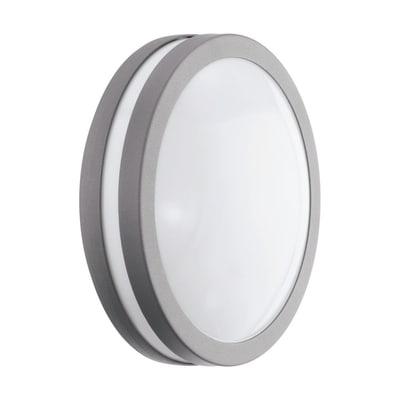 Plafoniera Locana C LED integrato in acciaio galvanizzato, argento, 14W 1400LM IP44 EGLO