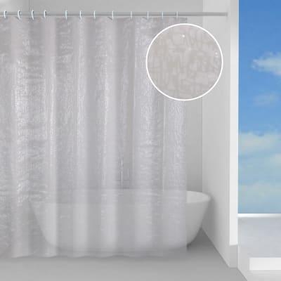 Tenda doccia in peva bianco L 180 x H 200 cm
