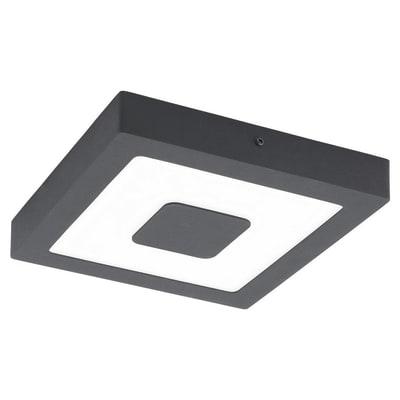 Plafoniera Iphias nero LED integrato in fusione di alluminio, grigio, 16.5W 1700LM IP44 EGLO