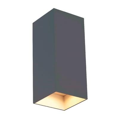 Plafoniera Tower LED integrato in alluminio, grigio, 12W 700LM IP54