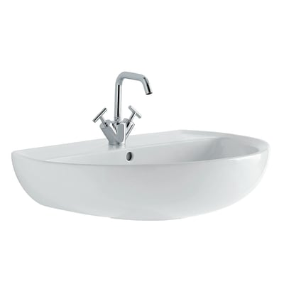 Lavabo Colibrì 2 L 60 x P 45.5 cm in ceramica bianco