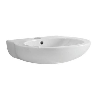 Lavabo sospeso ovale Full-Remyx L 65 x H 17 x P 23 cm in ceramica bianco