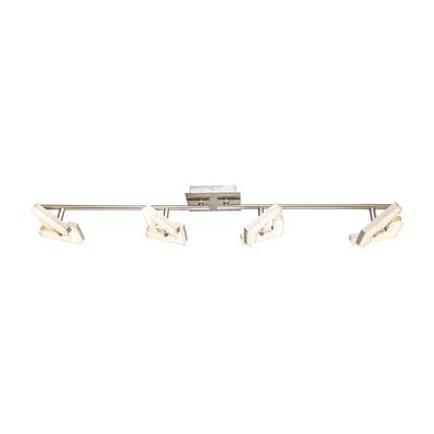 Barra di faretti Emma acciaio, nickel, in metallo, LED integrato 4W 280LM IP20