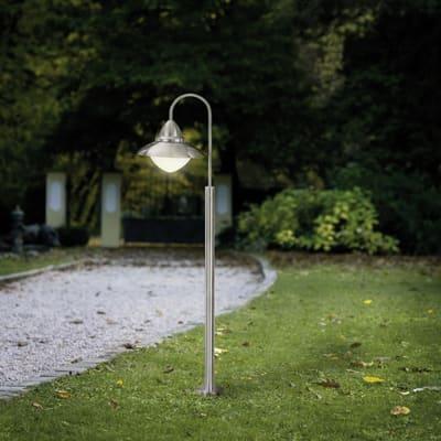 Impianto luminoso Sidney H120cm in acciaio, argento, E27 1xMAX60W IP44 EGLO