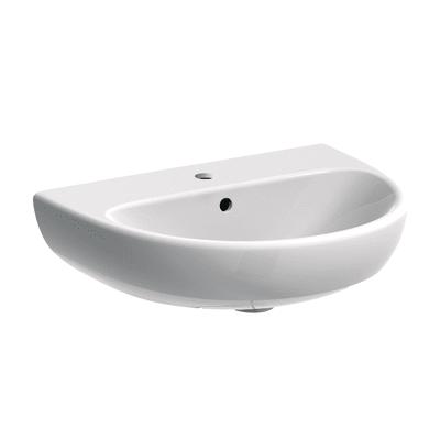 Lavabo sospeso semicircolare Lavabo Selnova 65cm L 65 x H 18.5 x P 50 cm in ceramica bianco