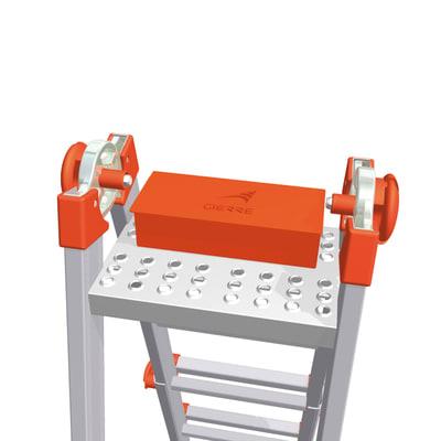 Cestello portaoggetti per scala telescopica alluminio